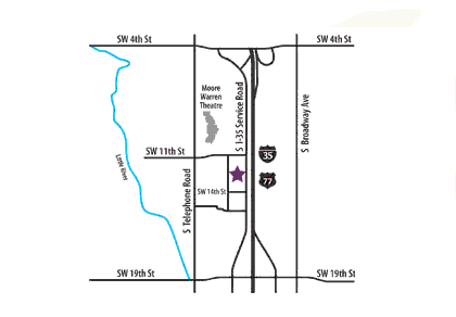 Moore Location Map